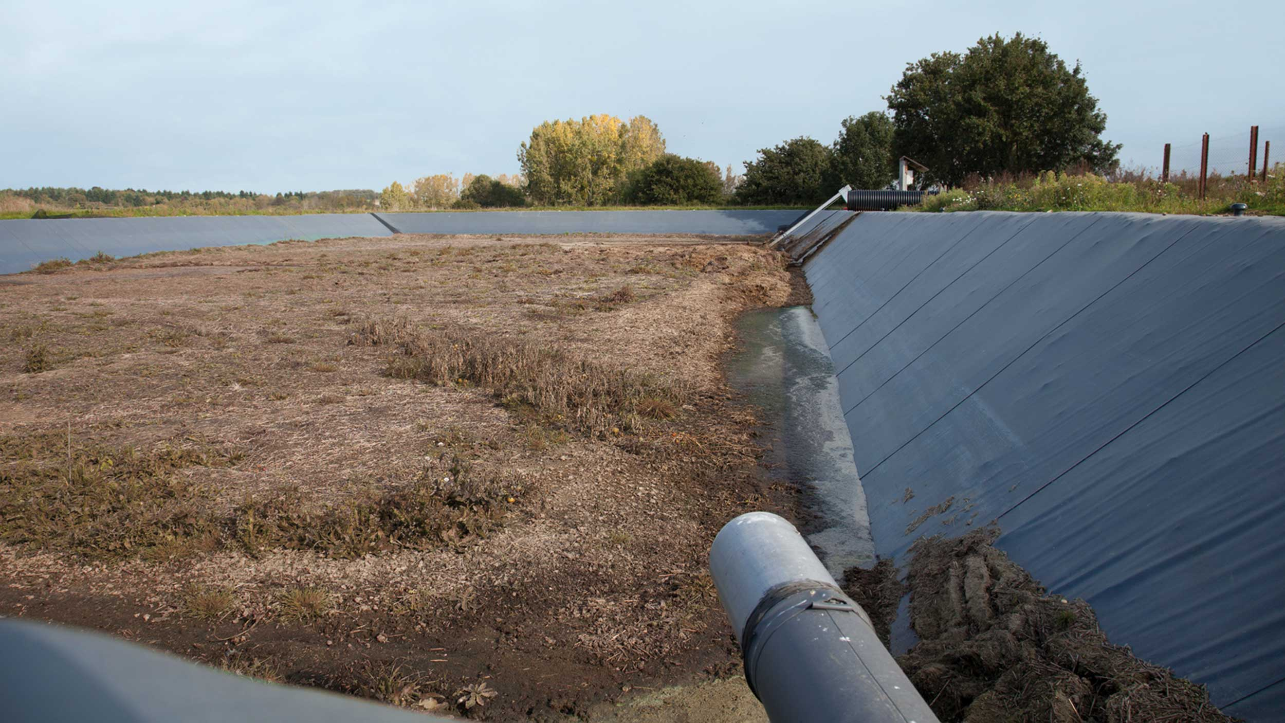 G omembrane pour fosses lisier bassins et lagunes for Bache geomembrane