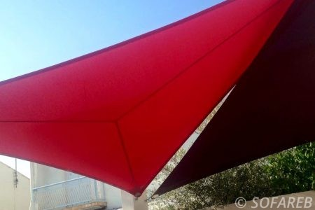 Voile d'ombrage rouge