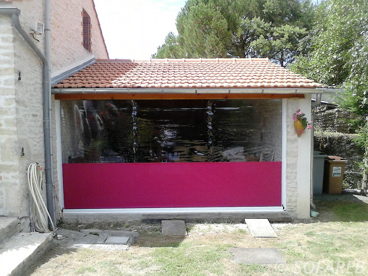 coupe vent rideau rose violet souple garage tissu - Rideau Coupe Vent Agricole