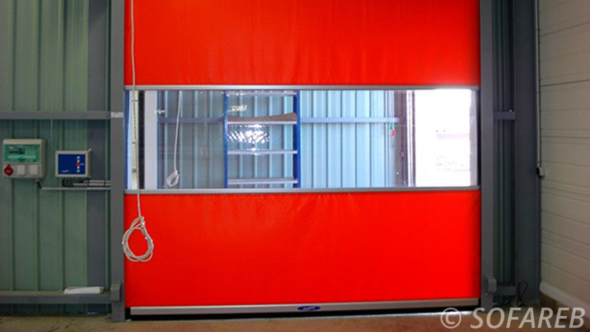 rideau rouge souple garage tissu bache sur mesure - Rideau Coupe Vent Agricole