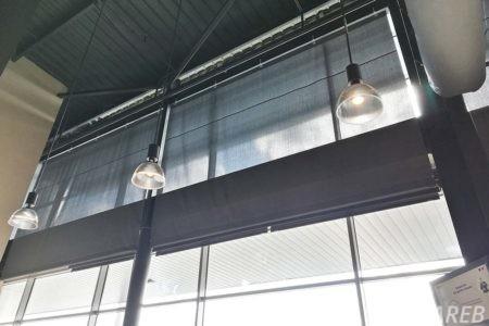 grands stores sur-mesure dans la cafétéria du hyper U de chantonnay