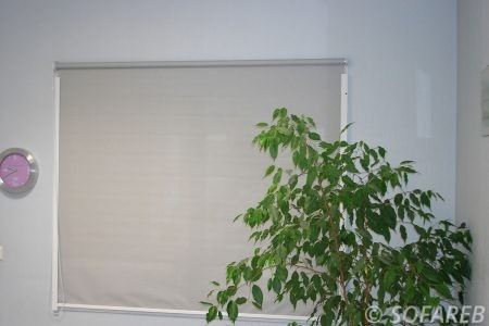store blanc fenetre intérieur depliable fabrication vendee store