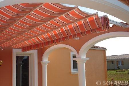 velum toit exterieur couleur orange ombrage