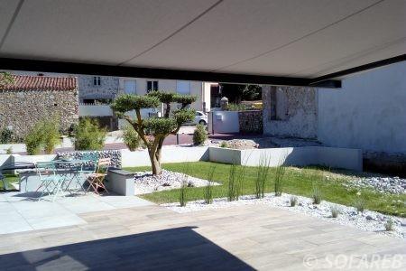 ombre en dessous d un store terrasse maison