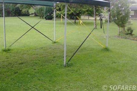 structure metallique chapiteau jardin