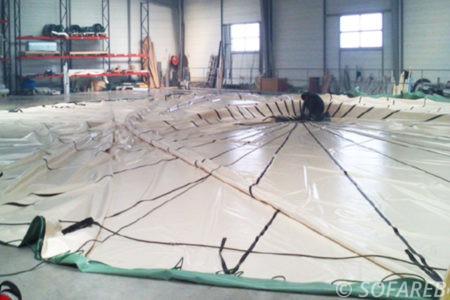 fabrication d'un couverture de fosse en béton
