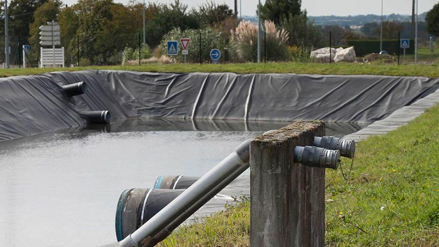 Bassin d'orage pour une collectivités